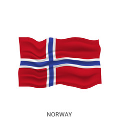 flag norway vector image