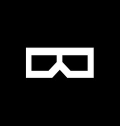 flat 3d glasses icon vector image