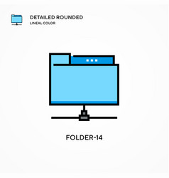 Folder-14 icon modern vector