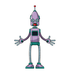 funny robot technology toy vector image