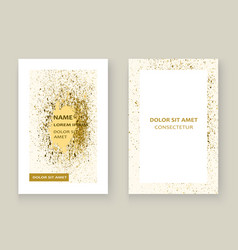 Gold paint splash splatter explosion glitter vector
