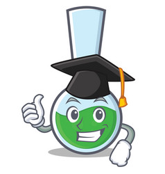 Graduation tube laboratory character cartoon vector
