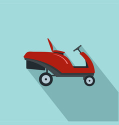 Grass cutter machine icon flat style vector
