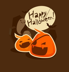 grinning pumpkins vector image