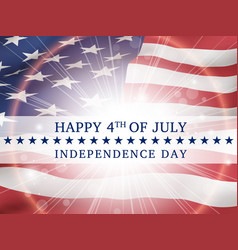 Happy 4th of july independence day usa vector