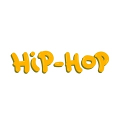 Hip-hop text vector image