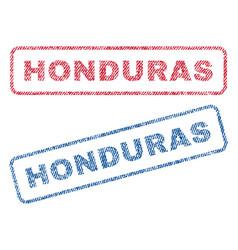 Honduras textile stamps vector