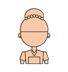 housekeeper avatar character icon vector image