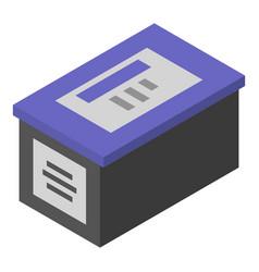 Ink printer box icon isometric style vector