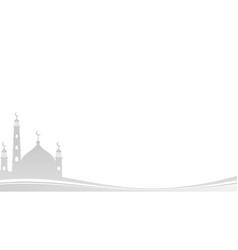 Islamic ramadan mosque background ied al adha ied vector