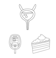 Isolated object mellitus and diabetes symbol vector