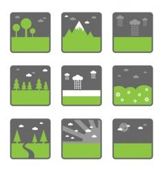 landscape squares vector image