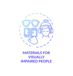 Materials for visually impaired people concept vector