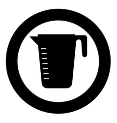 Measuring capacity cup icon black color in circle vector