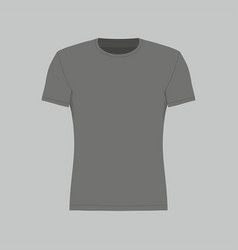 Mens black t-shirt vector