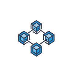 modern blockchain technology icon or design vector image