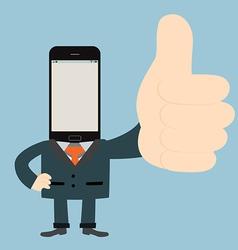 Modern business man vector image