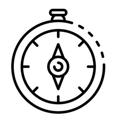 Navigation compass icon outline style vector