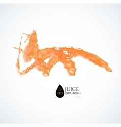 Orange 3D juice splash isolated on white vector image