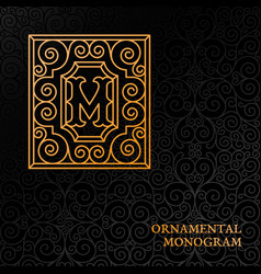 ornamental monogram vector image