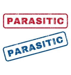 Parasitic rubber stamps vector