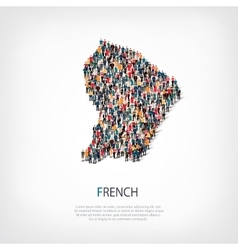 People map country French vector