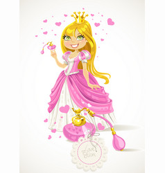 pretty princess with a love potion vector image