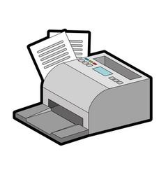 receipts printer pos icon vector image