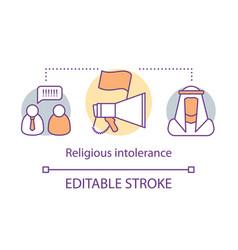 Religious intolerance concept icon discrimination vector