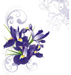 Romantic floral v vector