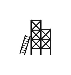 scaffolding icon isolated on transparent vector image