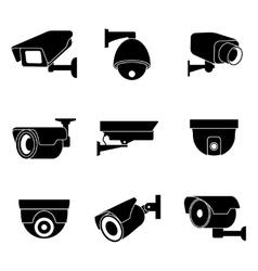 Security surveillance camera cctv icons vector