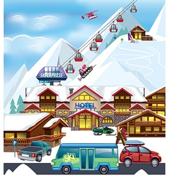 Ski resort vector