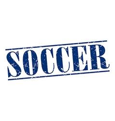 Soccer blue grunge vintage stamp isolated on white vector