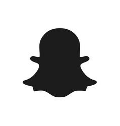 Social media symbol snapchat vector
