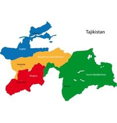 tajikistan map vector image