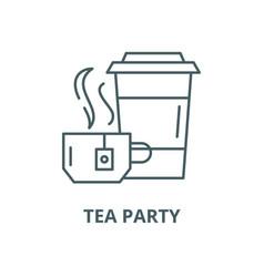 tea party line icon linear concept vector image