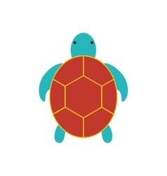 Tortoise cute animal sea little icon vector