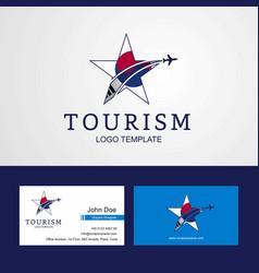 Travel korea south flag creative star logo vector