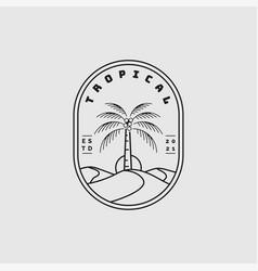 tropical logo design inspiration vector image