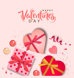Valentines day banner background design of vector