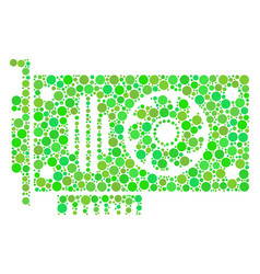 Video gpu card collage of dots vector