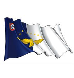 Waving flag azores vector