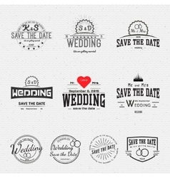 Wedding badges cards and labels for any use vector