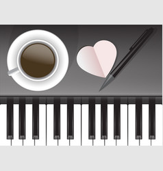 cup of coffee and musical love coffee vector image