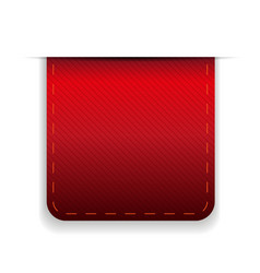 Empty ribbon red vector image