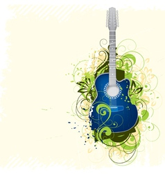 guitar background vector image