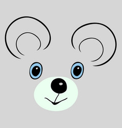 mouse cute funny cartoon head vector image vector image