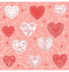 Red and pink floral ornament vector image vector image