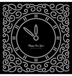 sNew Year clock on black vector image vector image